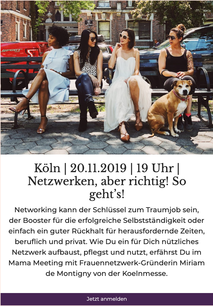 Networking Tipps fuer Muetter