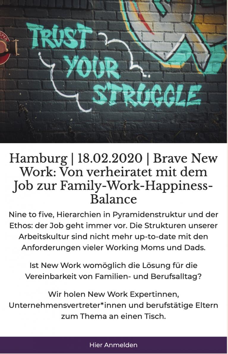New Work für Eltern Hamburg Mama Meeting